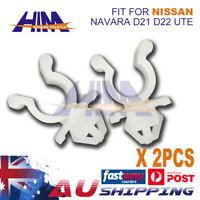 2x Hood Bonnet Rod Support Plastic Clip Clamp for Nissan Navara D21 D22 Ute