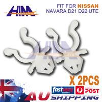 2x Hood Bonnet Rod Support Plastic Clip Clamp for Nissan Navara D21 D22 Ute