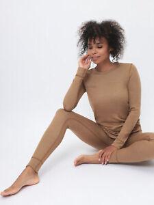 Womens Thermal 100% Camel Wool Dual layer Base layer Set