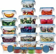 HUGE SET (32 Pack) Food Storage Containers w/Lids - Plastic Food Containers $39