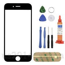 "For iPhone 6 Plus 5.5"" Front Screen Glass Lens Replacement + REPAIR TOOLS Black"