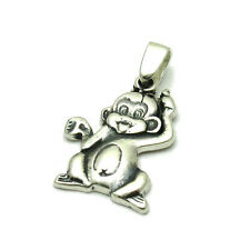 STERLING SILVER PENDANT MONKEY SOLID 925 PE001048 EMPRESS