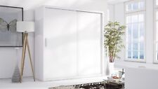 Armoire avec portes coulissantes Armoire Lund blanc mat 220x215 cm