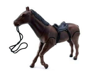 """Brown Horse Articulated Action Figure Toy 3.75"""" Scale"""