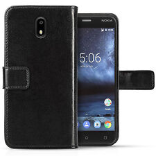 Real Genuine Leather Wallet Case For The Nokia 3 License Slot Flip Phone Cover