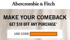 New listing Code $10 off any purchase Abercrombie & A&F Kids coupon code exp 11/10/19