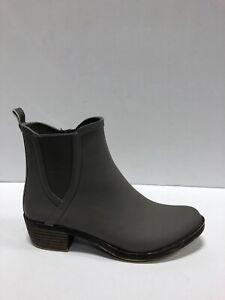 Lucky Brand Basel Bootie Womens Rain Boot Gray 6 M