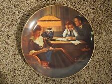 """Vintage 1983 Norman Rockwell """"Father's Help"""" Decorative Plate #10625E"""