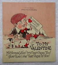 Vintage Fold Back To Form Easel Die Cut Valentine Loves Sweepstakes #23