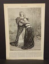 "Harper's Weekly 1Pg A SAcene from ""Richelieu""  1873 B7#97"