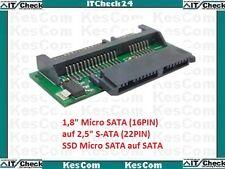 """Micro S-ATA auf S-ATA Adapter 1,8"""" 4,57cm 16PIN auf 2,5""""  6,35cm S-ATA 22PIN"""