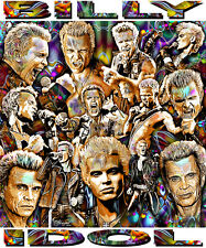 """BILLY IDOL"" TRIBUTE T-SHIRT OR PRINT BY ED SEEMAN"