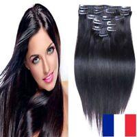 EXTENSIONS CHEVEUX REMY HAIR A CLIP 100% NATURELS 46-60CM COULEURS AUX CHOIX 3A+