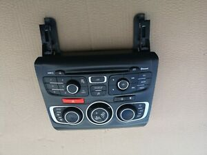 CITROEN DS4 2012 HEATER CONTROL A/C RADIO CD SWITCH PANEL UNIT 9666027777