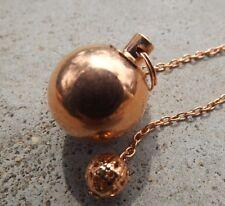 Copper plated metal ball chamber dowsing pendulum
