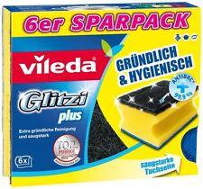 Vileda 6 Topfreiniger Glitzi Plus, 90x65 mm / Schwamm / Spülschwamm