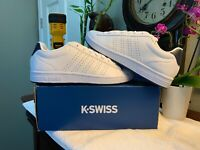 K SWISS Low White/Navy Men's Athletic Casual Shoes Size 10 M BRAND NEW + Box