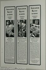 1929 ATWATER KENT advertisement, Screen-Grid Radio Triptych early radio