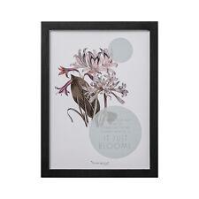 Bloomingville Bild mit Rahmen schwarz - A Flower