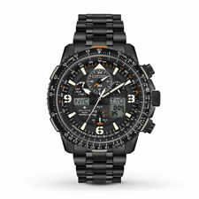 Citizen JY8075-51E Eco-Drive Black Stainless Steel Chronograph 46mm Watch