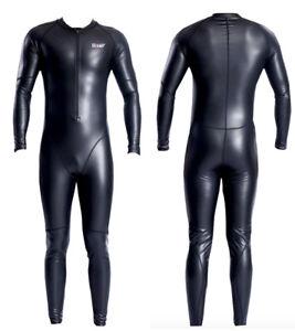 Ju./He Schwimm Anzug PU Einteiler Overall Schwarz Stretch Body ca. Gr. XXL, NEU