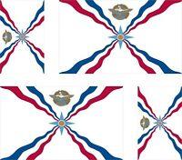 4 x assyria assyrian  flag decals sticker bike car vinyl luggage helmet