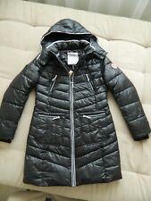 TOM TAILOR Denim Women's Winter Hooded Black Coat Jacket L UK 12/14 BNWT £140