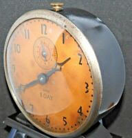 Rare Antique Ward Alarm Clock by Ingraham 8 Day Mechanical Works!