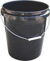 NEW ENCORE PLASTICS USA LOT OF (5) 250003 5 GALLON BLACK COLORED BUCKETS 6531529