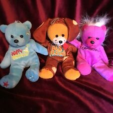 Beanie Bears Set Of 3 Soft Toys  Very Good Condition