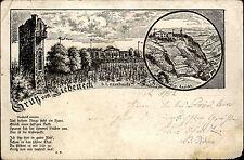 Siebeneck bei Cossebaude Sachsen 1902 Zeichnung Gedicht Grußkarte Künstlerkarte