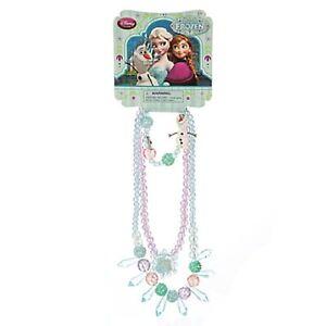 Girls FROZEN JEWELRY SET Anna Elsa Olaf Necklaces + Bracelet Disney Store Child