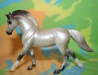#5906 Breyer Stablemate Horse, Cantering Warmblood, fleabitten grey