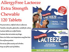 1 x 120 tablets LACTEEZE 4000mg Chewable Extra Strength ( Lactase Enzyme )