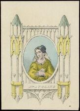 santino incisione 1800 S.APOLLONIA V.M.  dip. a mano