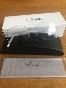 Silhouette Optical Eyeglasses Frames 5506/DO 7005 52/17 Inspire Rhodium/Crystal