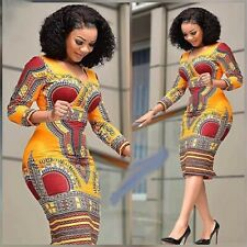 African Dresses for Women Ethnic Fashion V-neck Clothes Sexy Dress Robe Party