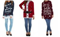 Ladies Christmas Tunic Jumper Womens New 2018 Novelty Xmas Knitted Retro Sweater