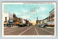 Garrison Avenue, Drug store, Shops, Fort Smith AR Arkansas Vintage Postcard Z21