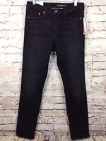 H & M Skinny Stretch High Waist Jeans Jeggings Women's Pants Dark Wash Black $49