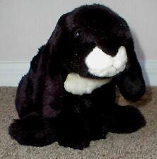 Plush Bunny Rabbit Black White Realistic Toy R US Animal Alley Life-Like Animal
