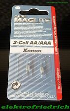 2 Mini Maglite 2-cell AA Ersatzlampen Ersatzbirnen Xenon F43