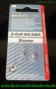 Mini MAGLITE 2-Cell AA + AAA Xenon Ersatzbirnen MAG-LITE Birne Ersatzlampe