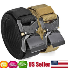 JASGOOD Men Military Tactical Belt Rigger Nylon Belt with Quick-Release Buckle
