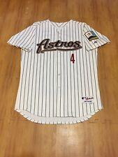 Houston Astros #4 MLB Baseball Adult 48 XL Sewn Authentic Majestic Jersey