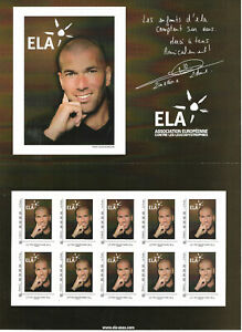 Feuillet collector 10 magnifiques timbres ZINEDINE ZIDANE collection football