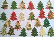 Mini Christmas Trees fabric Pack remnants patchwork bundle 100%cotton