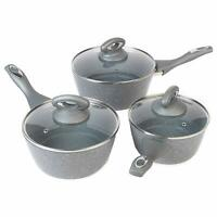 Salter BW02986G Marble Collection Forged Aluminium Non Stick 3 Piece Saucepan