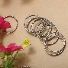 100PC 25mm Nickel Steel Hoop Metal Split Key Ring Chain Loop Keyrings Connectors