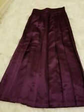 Escada Plum Slim Fit Full Length Pleated Maxi Skirt Size 36-C10